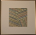"""Soft Square-Off"" by artist Emily Shane, 14 1/2"" square"