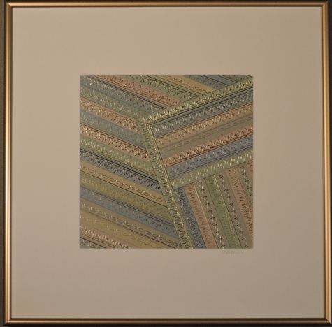 """""""Soft Square-Off"""" by artist Emily Shane, 14 1/2"""" square"""