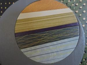 """Circle Rays on Green"" DETAIL, bottom left, by artist Emily Shane"