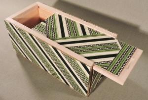 Green Stripes Keepsake Box by artist Emily Shane