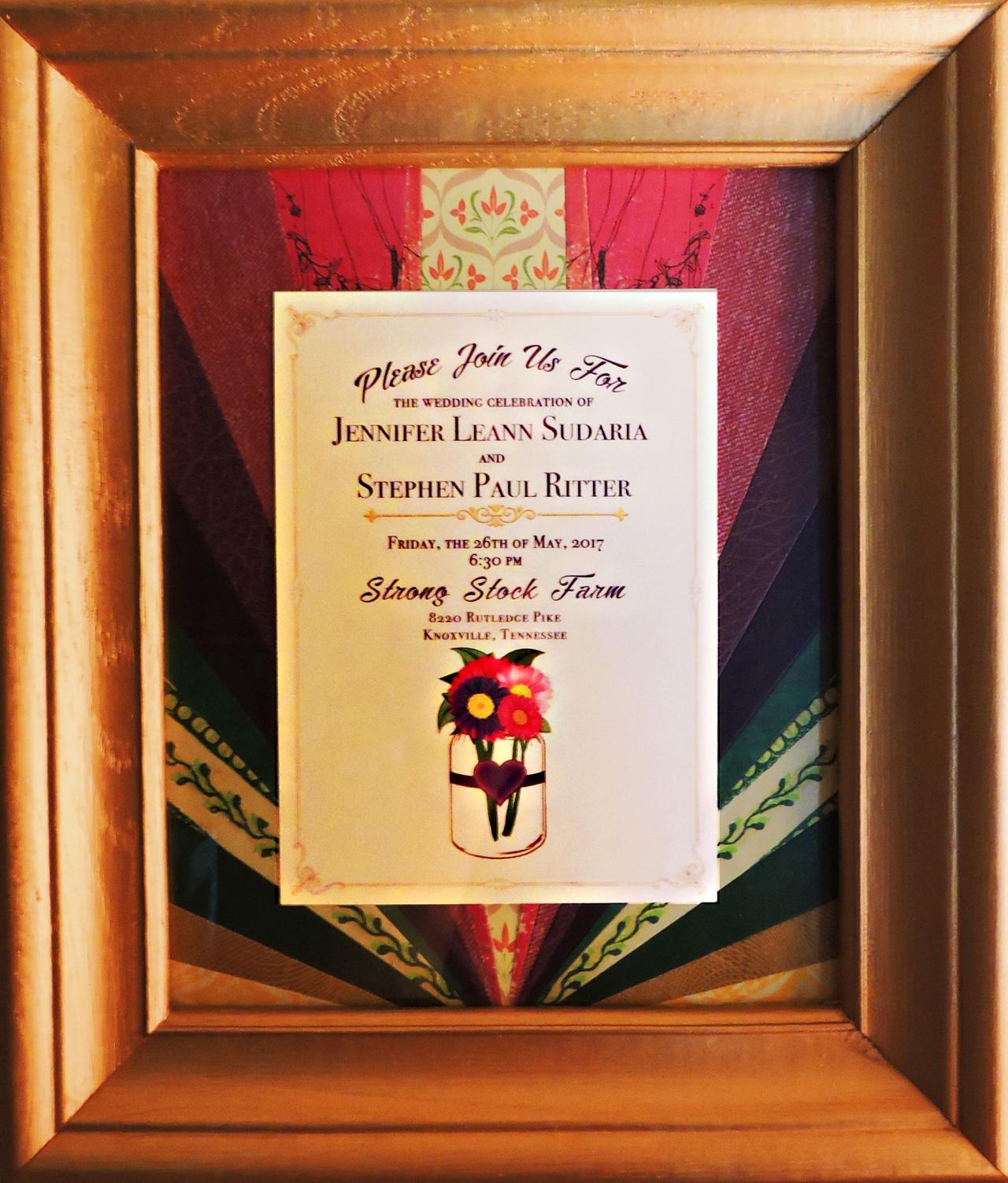 Keepsake plus for jenn and paul emily shane mixed media artist jennifer and pauls wedding invitation stopboris Choice Image