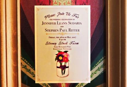 Jennifer and Paul's Wedding Invitation