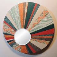 """""""Drocella's Daughter"""" 8-in. Round Mirror by artist Emily Shane"""