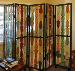 Commissioned Five-Panel Screen by artist Emily Shane
