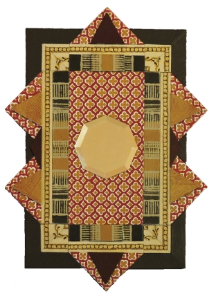 """Tunisian Tiles"" mirror,14""x10.5"" by artist Emily Shane"