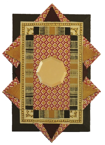 """Tunisian Tiles"" mirror,14""x10.5"" by artist Emily Shane"