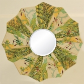 Spring Green Petals Mirror by artist Emily Shane