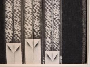"""""""Three Birds, DETAIL 2,"""" 14"""" x 14.5"""" by mixed media artist Emily Shane"""